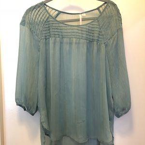 Lauren Conrad XL real blouse w. gold accent!